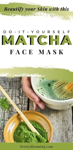 Matcha green tea isn't just for drinking. Learn why you should be putting it on your face, and how to make a DIY matcha face mask! #matchafacemask #diyfacemask