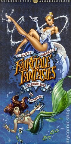Illustrator J Scott Campbell reimagined Disney princesses as pin-up dolls, and put them into a calendar for 2012 Fairytale Fantasies. Disney Pin Up, Gif Disney, Disney Love, Disney Art, Walt Disney, Disney Parody, J Scott Campbell, Anime Sexy, Comic Book Artists