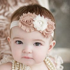 Baby headband. Is this the most gorgeous baby ever?