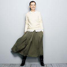KristenseN DU NORD(クリステンセン ドゥ ノルド)のギャザーシルクスカート   ファッション通販 FLAG SHOP
