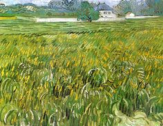 Vincent van Gogh — Wheat Field at Auvers with White House via Vincent...