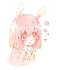 cute anime kawaii manga pink so cute bunny rabbit girl manga girl bunny girl rabbit Kawaii Anime Girl, Art Kawaii, Manga Kawaii, Arte Do Kawaii, Loli Kawaii, Kawaii Chibi, Cute Chibi, Kawaii Shop, Anime Girls