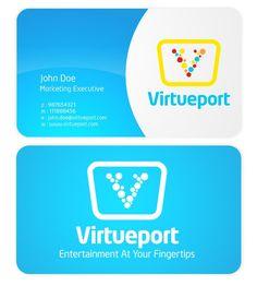 Virtueport logo by moochan Custom Logo Design, Custom Logos, Personal Care, Entertaining, Marketing, Self Care, Personal Hygiene, Funny