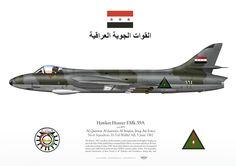 Iraqi Air Force . القوة الجوية العراقية No.6 Squadron. H-3/al-Wallid AB, 5 June 1967