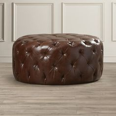 Found it at Wayfair - Ormsby Leather Pouf Ottoman