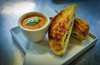The Picnic House - try their fabulous grilled cheese sandwich and shot of tomato soup.  Sandwich made from Fleur de Lis Bakery bread with goat cheese ricotta, mascarpone, and other great cheeses.