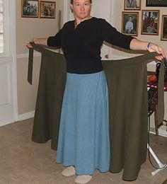 MrsMamaHen.com: How to Make a Modest Wrap Skirt