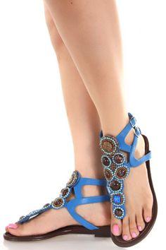 Blue Thong Sandals
