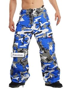 Amok Neon Blue Camo Pants