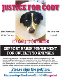 PLEASE PLEASE PLEASE HELP http://www.thepetitionsite.com/521/152/628/codys-law/