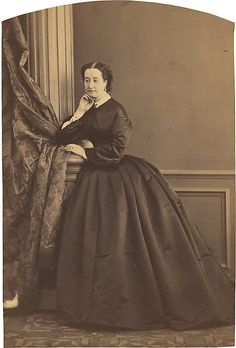 Empress Eugénie  Olympe Aguado de las Marismas  (French, Paris 1827–1894 Compiegne)  Date: 1860 Medium: Albumen silver print from glass negative Dimensions: 5 5/16 x 3 5/8 Classification: Photographs Credit Line: Gilman Collection, Museum Purchase, 2005 Accession Number: 2005.100.826