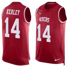 Men s Nike San Francisco 49ers  17 Jeremy Kerley Limited Red Player Name    Number Tank Top NFL Jersey 3b8693de6