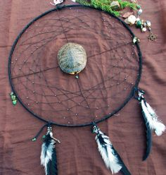Shop for on Etsy, the place to express your creativity through the buying and selling of handmade and vintage goods. Native American Crafts, American Indians, Medicine Wheel, Dream Catchers, My Etsy Shop, Feathers, Turtle Shells, Unique Jewelry, Handmade Gifts