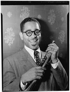 Dizzy Gillespie (John Birks) (October 21, 1917 - January 6, 1993) American bandleader and trumpetplayer (o.a. from the Dizzy Gillespie Orchestra).