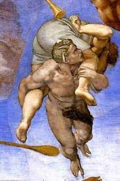 Michelangelo, Demon from Hell. Detail from The Last Judgement.