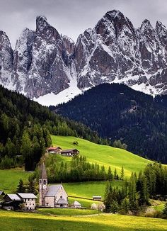 Mountain Village, the Alps, Switzerland.