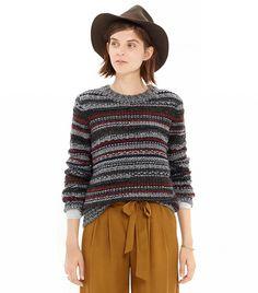 Madewell Folkstripe Pullover Sweater