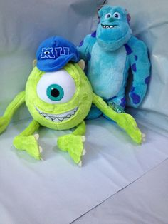 """2 pcs monsters university monster inc James P. Sullivan Plush Toy 28cm/11"""" and Mike Wazowski 38cm/14.96"""" from Reliable toy plush  $35.00 free shipping"""