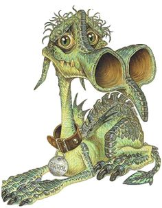 Errol the dragon from Terry Pratchett's Discworld series. I want to take him home with me and cuddle him forever!