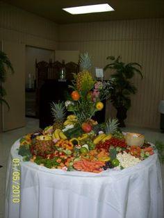 Wedding, Reception, Table, Food, Fruit, Veggies