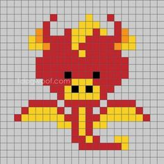 Cross Stitch Pattern Year of the Dragon zoodiac-c2c-dragon-small - One Dog Woof