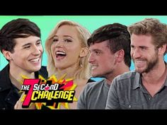 Danisnotonfire does the 7 SECOND CHALLENGE with Jennifer Lawrence Josh Hutcherson and Liam Hemsworth - YouTube