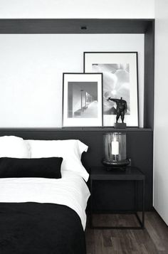 +Love this monochrome look. Try www.naturalbedcompany.co.uk for simple white bedding or solid wood beds stained black