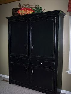 DIY Murphy bed in an armoire.  Pretty awesome.