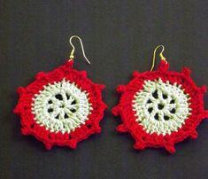 Menthe verte et rouge Crochet boucle par SwingMasterArtCraft