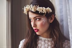 Wedding flower crown made of dried flowers