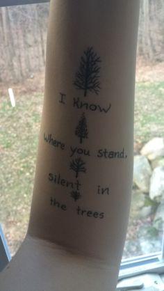 Twenty One Pilots - Trees tattoo. Not mine, but love the idea of it