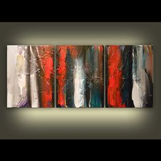 art original painting abstract pop thick paint by mattsart on Etsy, $225.00