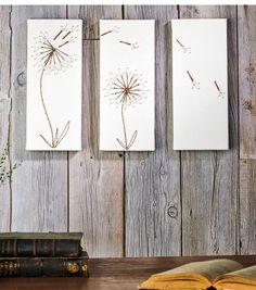 wandideen string art wandgestaltung pusteblumen pursitisch diy ideen
