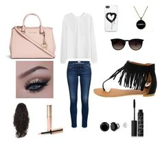 """Untitled #9"" by madisonbanks on Polyvore featuring interior, interiors, interior design, home, home decor, interior decorating, Ray-Ban, Zero Gravity, Michael Kors and By Terry"