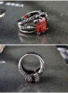 Gemstone Titanium Steel Ring - Trend Cool   YESSTYLE