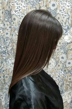 Long, staight, glowing hair by Shana Montgomery, owner of Fringe Theory Salon.