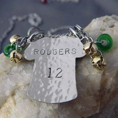 Aaron Rodgers Packer Fan Necklace by WireNWhimsy on Etsy, $30.00
