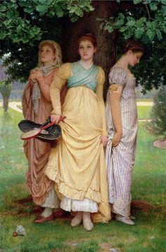 Charles Edward Perugini, A Summer Shower, 1888