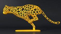 UMA LINDA ESCULTURA EM IMPRESSÃO DIGITAL 3D – Quem é que não se encanta – ou até se inspira – na evolução dos novos conceitos tecnológicos, num ritmo tão rápido quanto um guepardo…