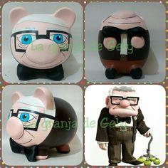 Sr. Fredricksen Pig Bank, Penny Bank, Personalized Piggy Bank, Color Me Mine, Cute Piggies, This Little Piggy, Money Box, Pottery Painting, Clay Pots