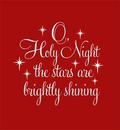 O Holy Night Christmas Vinyl Decor Board Wall Art By BWORDYtoo - Custom vinyl wall decals christmas