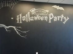 Work Halloween Party chalk board