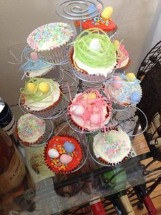Homemade Easter basket cupcakes.  Need help planning your next event? Contact Kaitlin at kaitlin.graf@gmail.com!