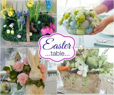 Easter Table Centerpieces on HoosierHomemade.com