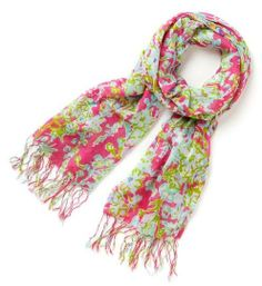 Lilly Pulitzer Murfee Scarf in Pop Pink Southern Charm