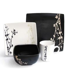 Look what I found on #zulily! Twilight Blossom 16-Piece Dinnerware Set #zulilyfinds  $39.99