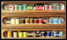Antique drawer thread organization