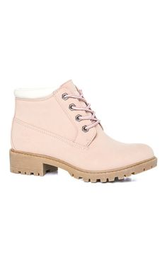 Primark - Pink Lace Up Boots