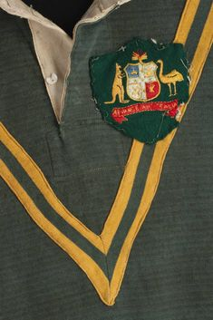Australian rugby league jersey. The Vic Armbruster collection comprises a 1922 NSW Rugby league cap, a 1924 Queensland Rugby League cap, a 1924 Australian cap and a Kangaroos jersey, dating from 1929-30.