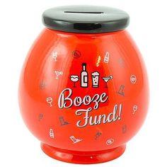 """Booze Fund"" Ceramic Fun Novelty Money Box Jar"